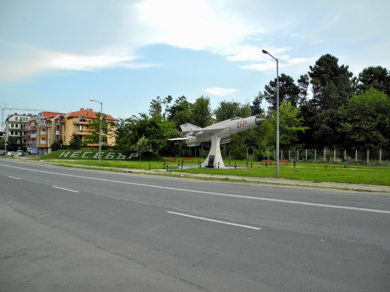 Plane MIG-21 At The Entrance Of Nessebar, Plane Monument